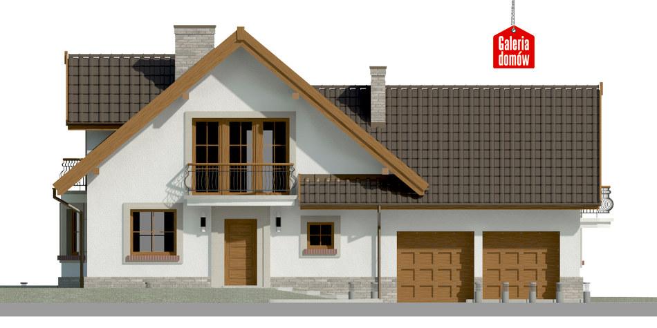 Dom przy Cyprysowej 15 P - elewacja frontowa