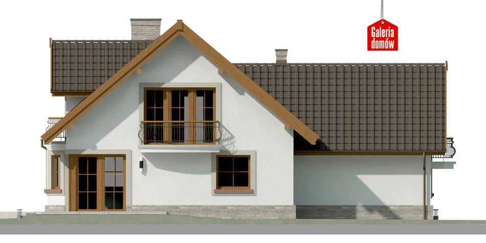 Dom przy Cyprysowej 15 P - elewacja tylna
