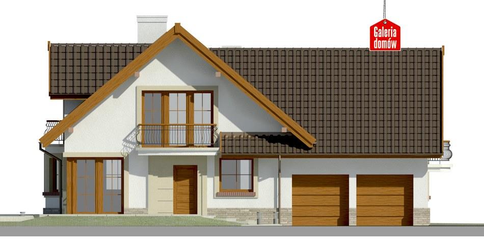 Dom przy Cyprysowej 15 S1 - elewacja frontowa