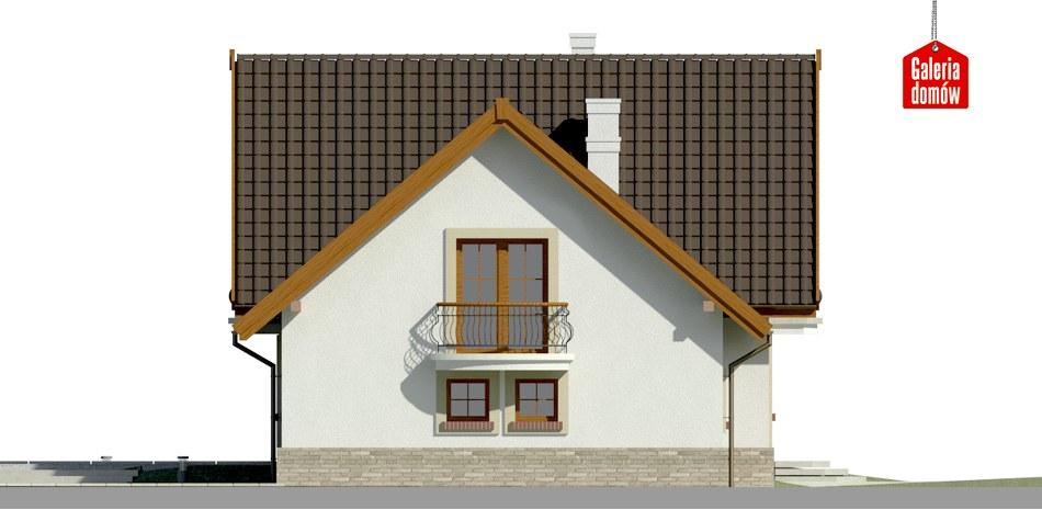 Dom przy Cyprysowej 15 S1 - elewacja prawa
