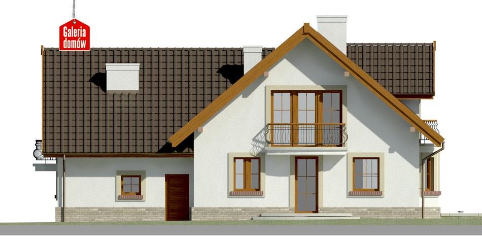 Dom przy Cyprysowej 15 S1 - elewacja tylna