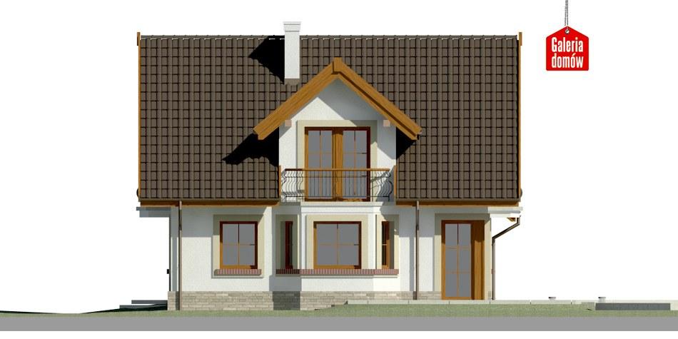 Dom przy Cyprysowej 15 S1 - elewacja lewa