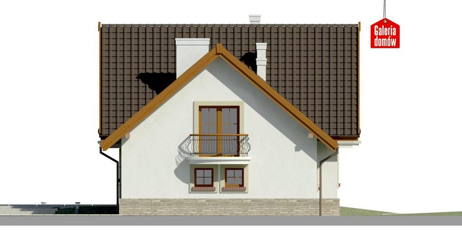 Dom przy Cyprysowej 15 S2 - elewacja prawa
