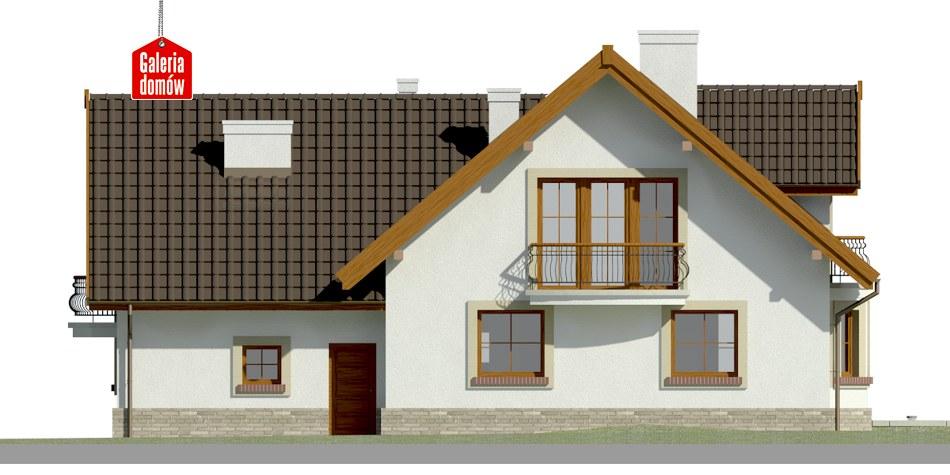 Dom przy Cyprysowej 15 S2 - elewacja tylna