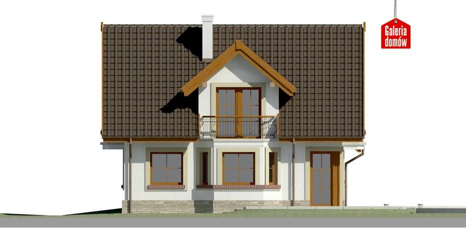 Dom przy Cyprysowej 15 S2 - elewacja lewa