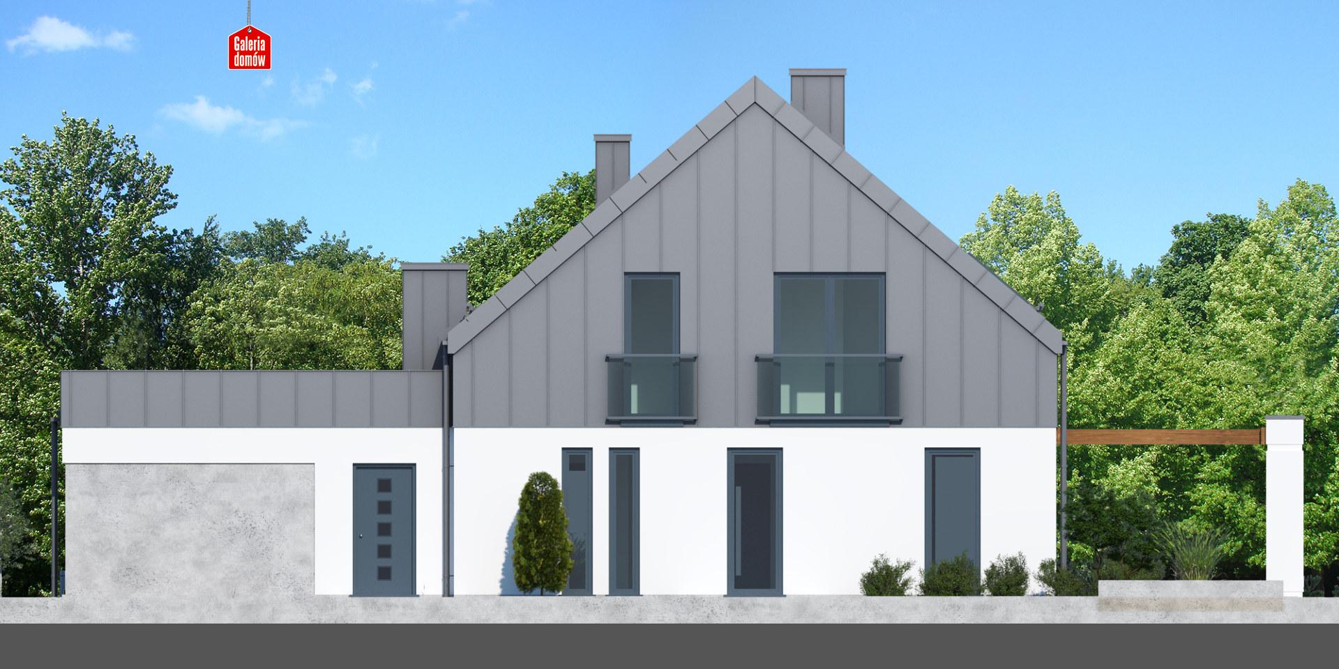 Dom przy Cyprysowej 15 S3 - elewacja tylna