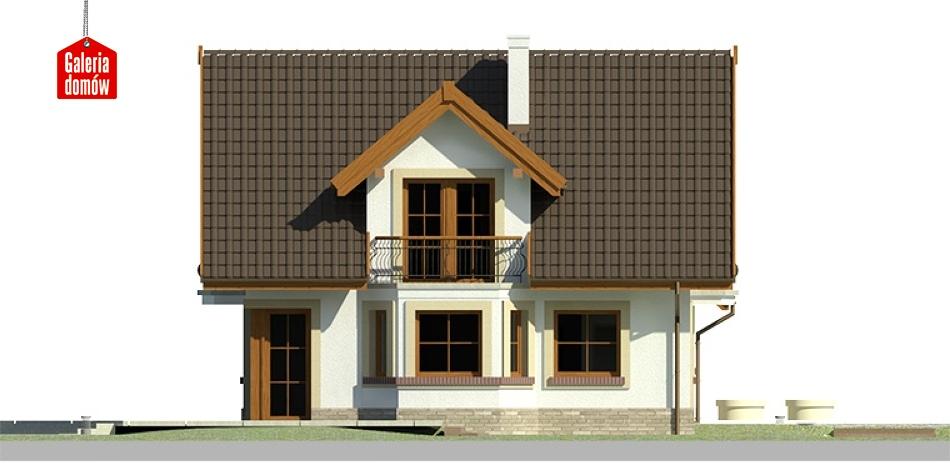 Dom przy Cyprysowej 15 - elewacja lewa