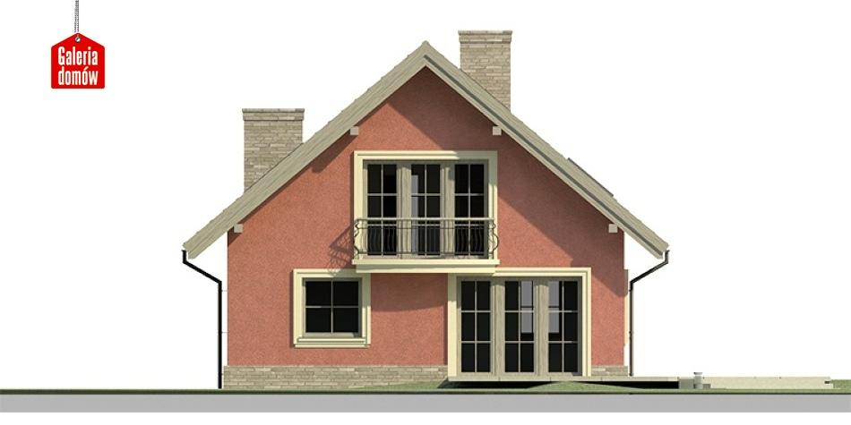 Dom przy Cyprysowej 16 - elewacja tylna
