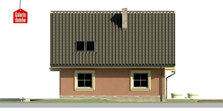 Dom przy Cyprysowej 17 - elewacja lewa