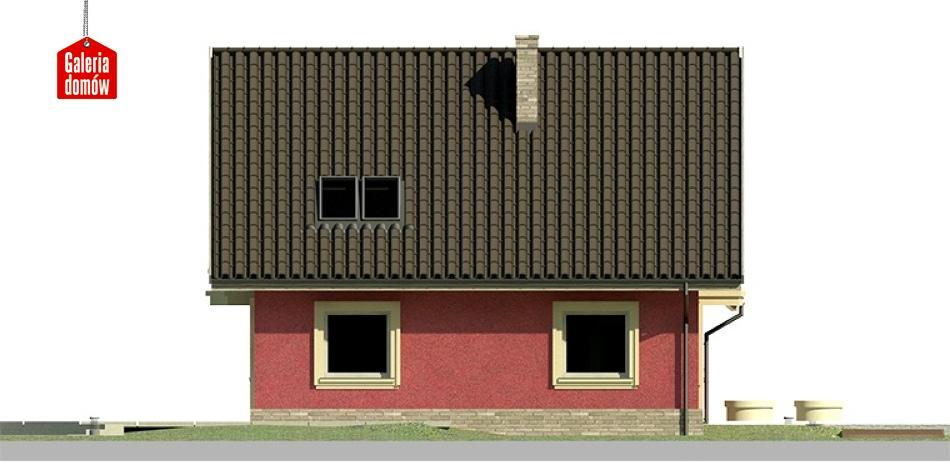 Dom przy Cyprysowej 18 - elewacja lewa