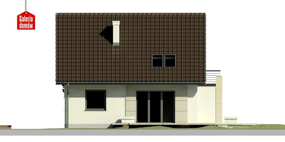 Dom przy Cyprysowej 19 - elewacja lewa