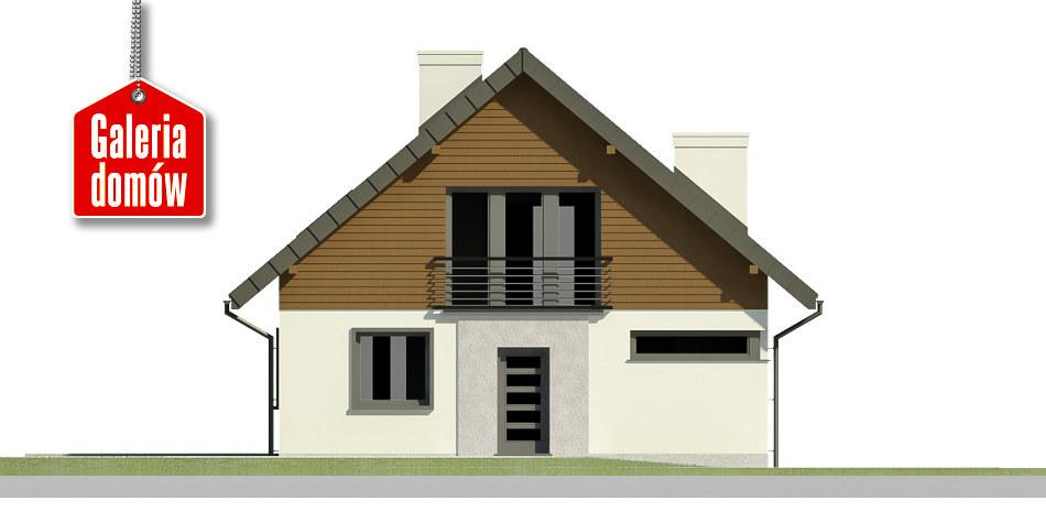Dom przy Cyprysowej 2 bis - elewacja frontowa