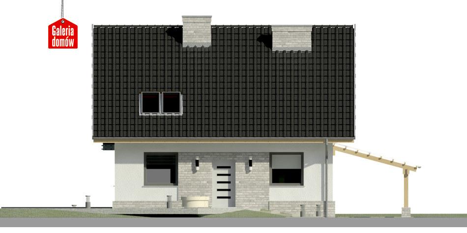 Dom przy Cyprysowej 20 N - elewacja frontowa