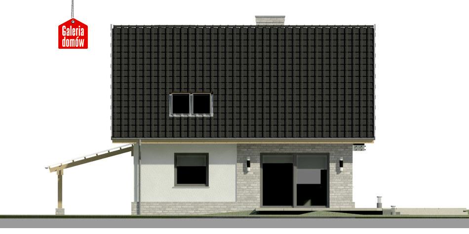 Dom przy Cyprysowej 20 N - elewacja tylna