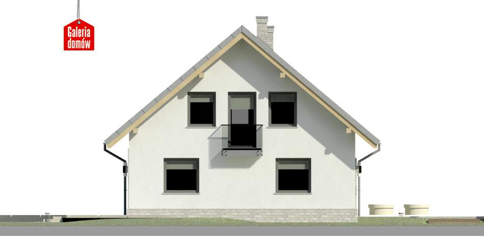 Dom przy Cyprysowej 20 N - elewacja lewa