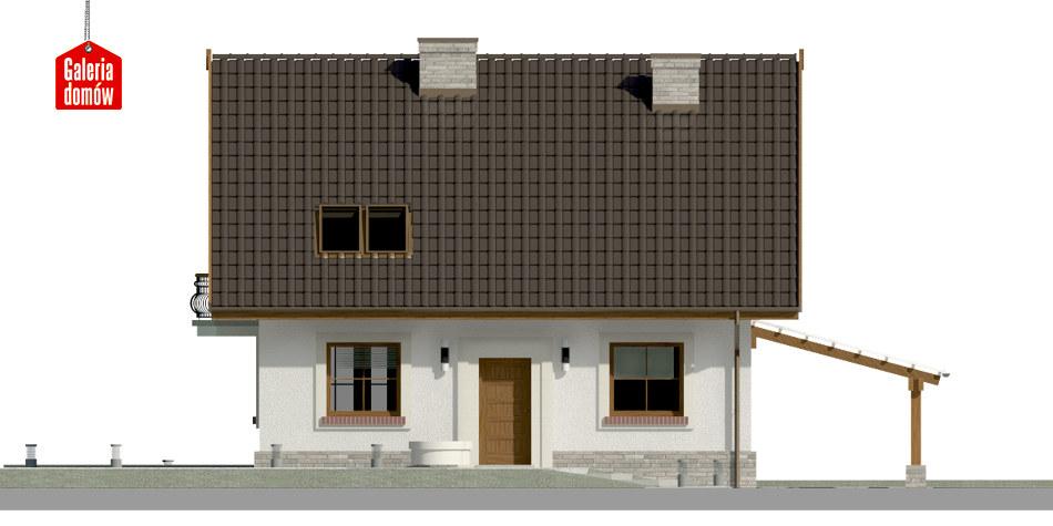 Dom przy Cyprysowej 20 P - elewacja frontowa