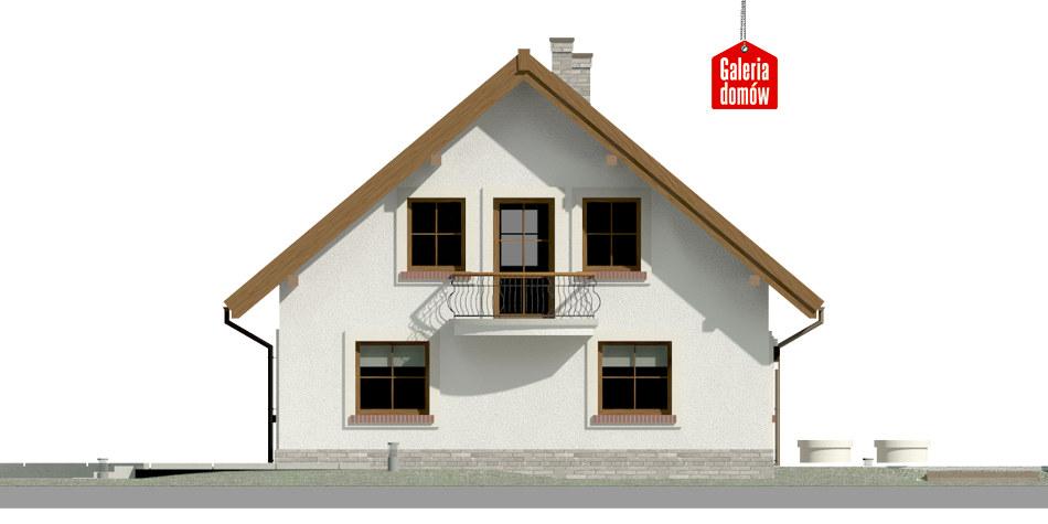 Dom przy Cyprysowej 20 P - elewacja lewa