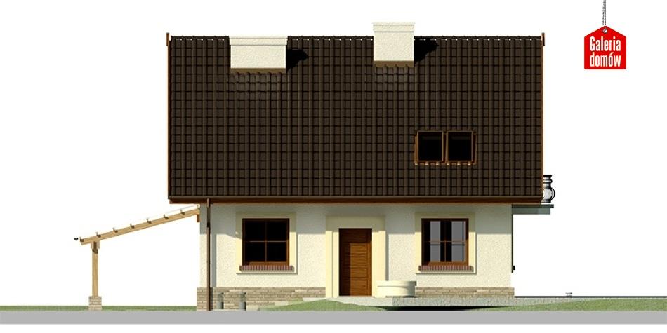 Dom przy Cyprysowej 20 - elewacja frontowa