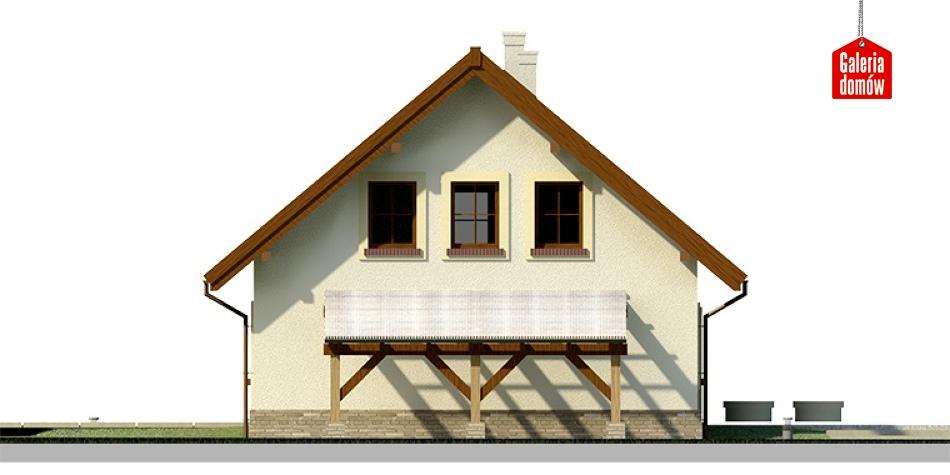 Dom przy Cyprysowej 20 - elewacja prawa