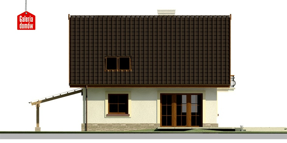 Dom przy Cyprysowej 20 - elewacja tylna