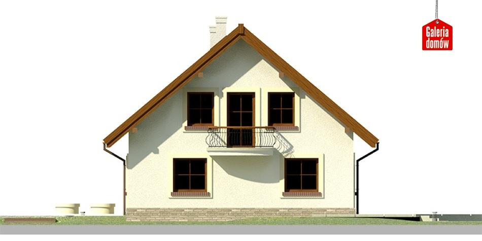 Dom przy Cyprysowej 20 - elewacja lewa