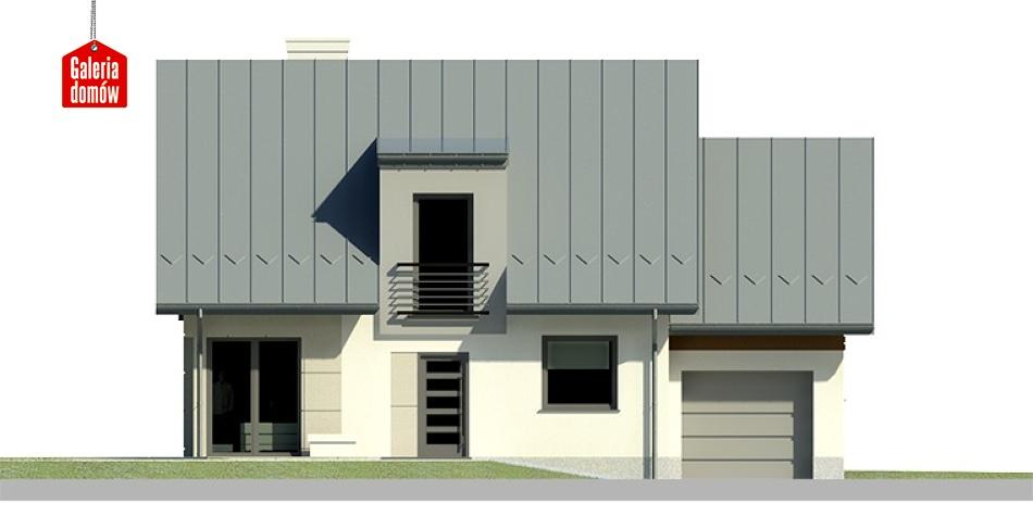 Dom przy Cyprysowej 21 - elewacja frontowa