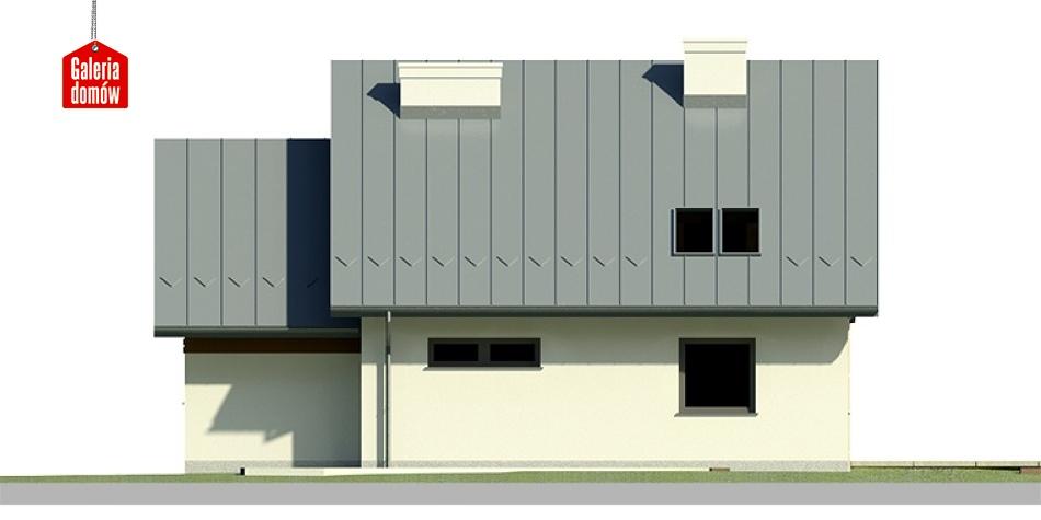 Dom przy Cyprysowej 21 - elewacja tylna