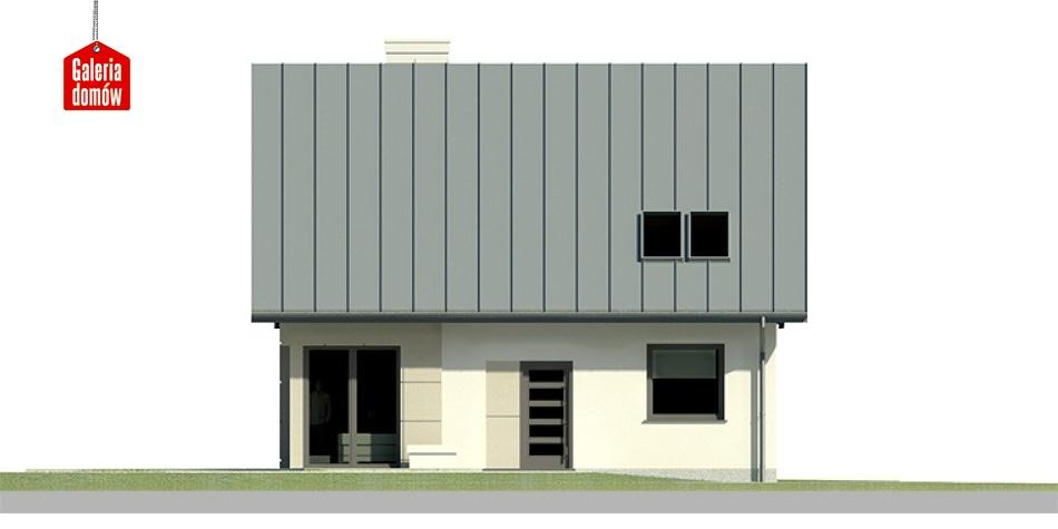Dom przy Cyprysowej 23 - elewacja frontowa