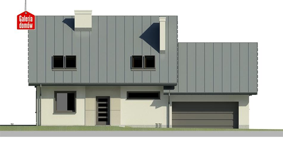 Dom przy Cyprysowej 24 - elewacja frontowa