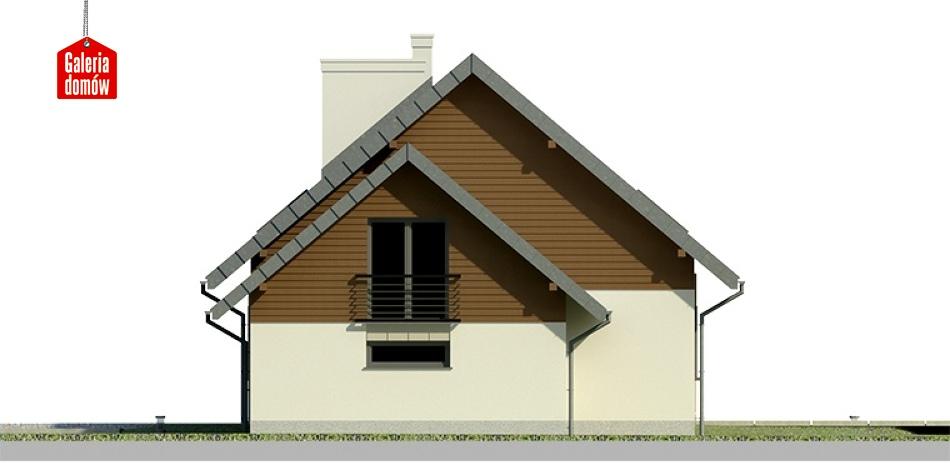 Dom przy Cyprysowej 24 - elewacja prawa