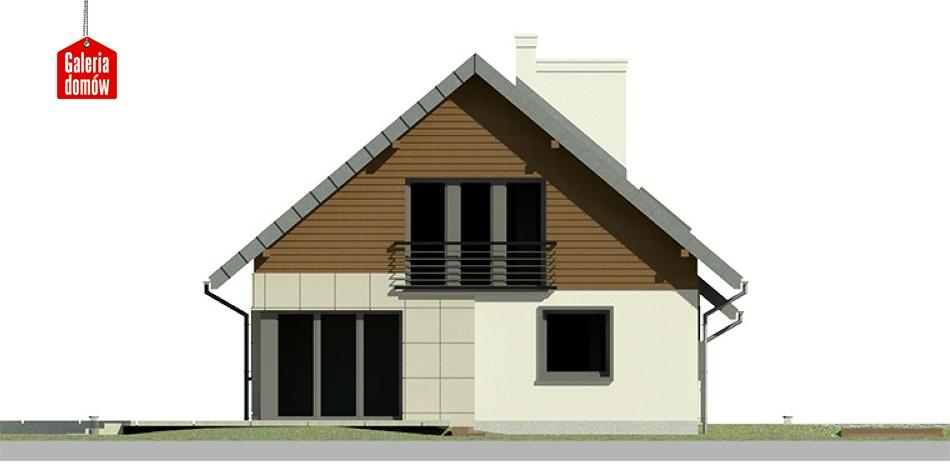 Dom przy Cyprysowej 24 - elewacja lewa