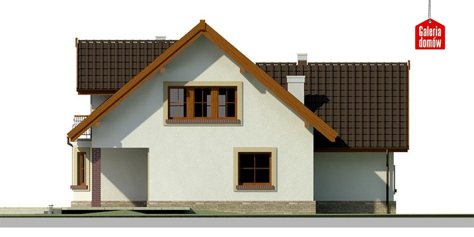 Dom przy Cyprysowej 25 - elewacja tylna