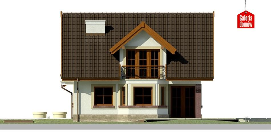 Dom przy Cyprysowej 25 - elewacja lewa