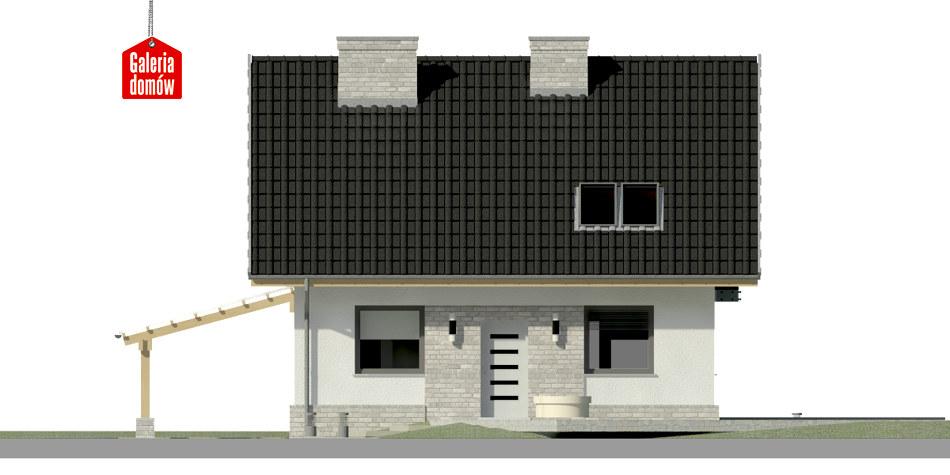 Dom przy Cyprysowej 26 N - elewacja frontowa