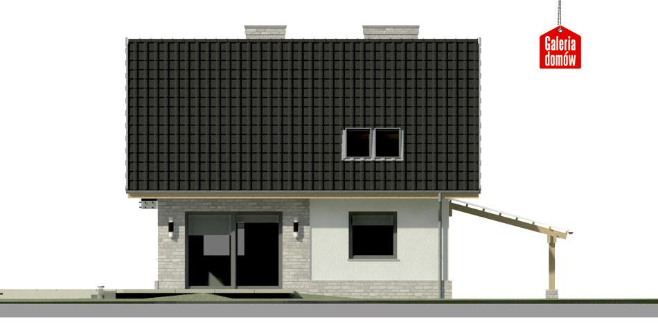 Dom przy Cyprysowej 26 N - elewacja tylna