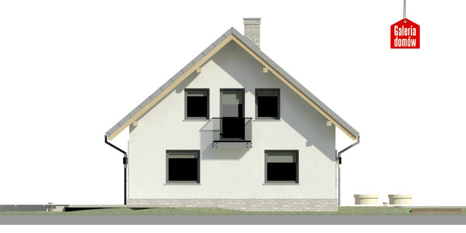 Dom przy Cyprysowej 26 N - elewacja lewa