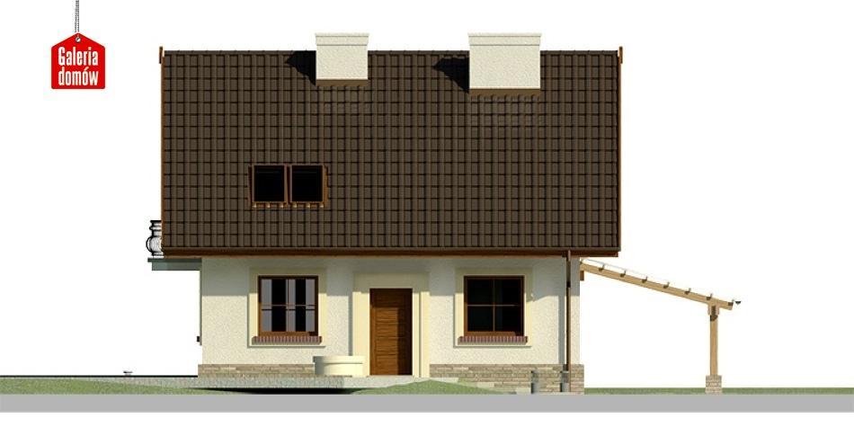 Dom przy Cyprysowej 26 - elewacja frontowa