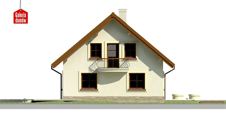 Dom przy Cyprysowej 26 - elewacja lewa