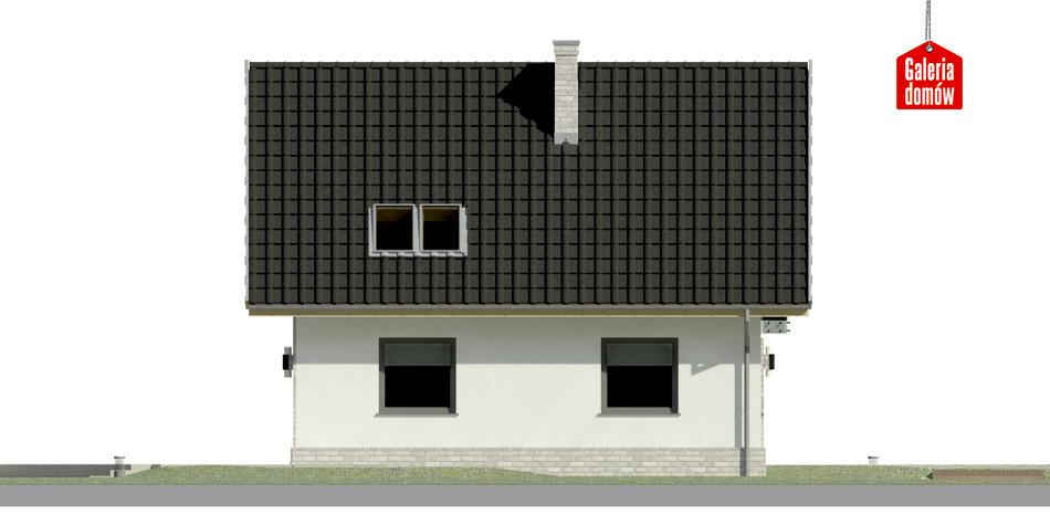 Dom przy Cyprysowej 27 N - elewacja lewa