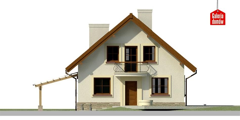 Dom przy Cyprysowej 27 - elewacja frontowa
