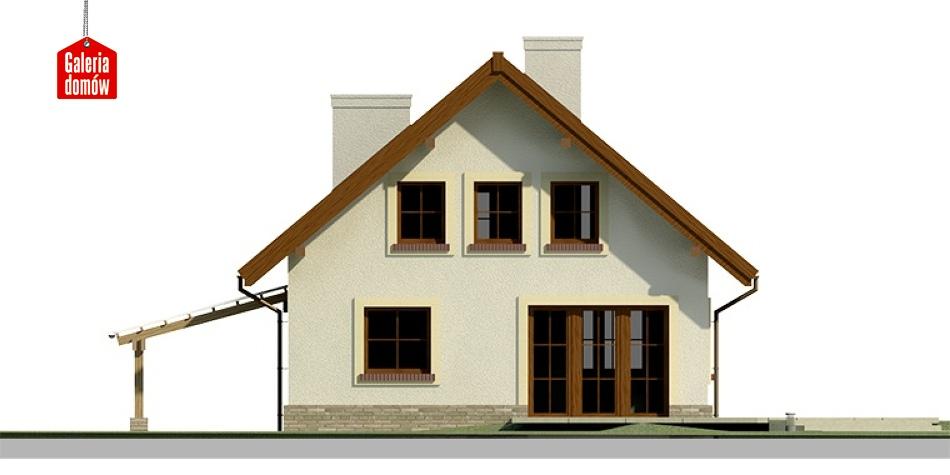 Dom przy Cyprysowej 27 - elewacja tylna