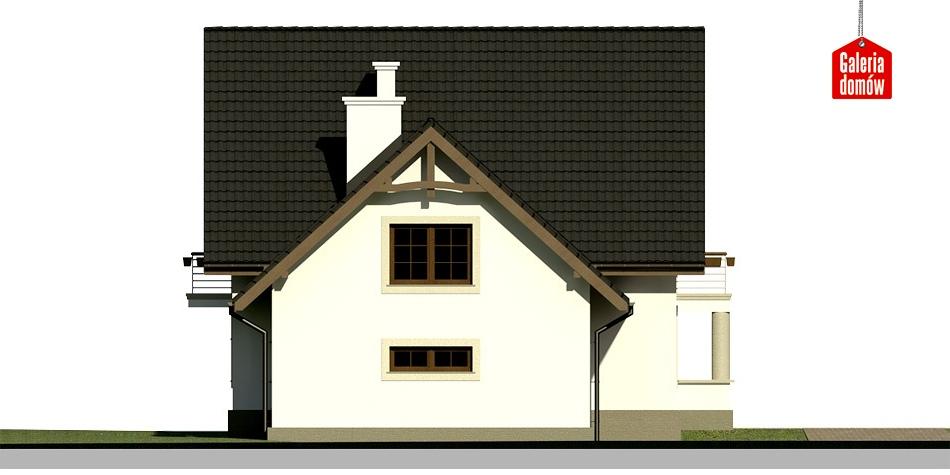 Dom przy Cyprysowej 28 - elewacja prawa