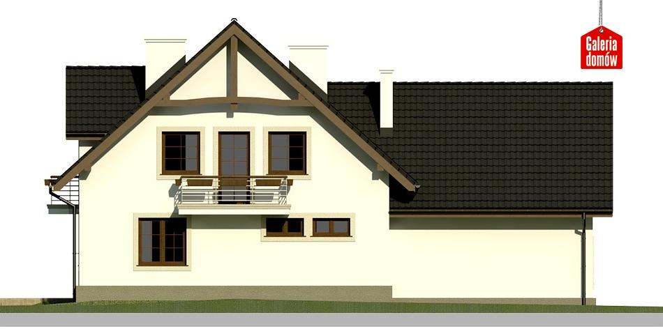 Dom przy Cyprysowej 28 - elewacja tylna