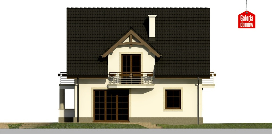 Dom przy Cyprysowej 28 - elewacja lewa