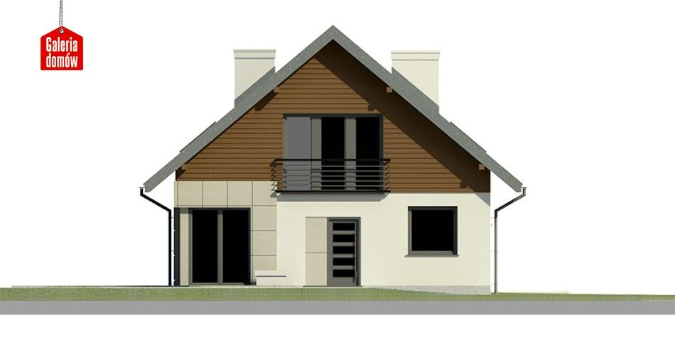 Dom przy Cyprysowej 3 - elewacja frontowa