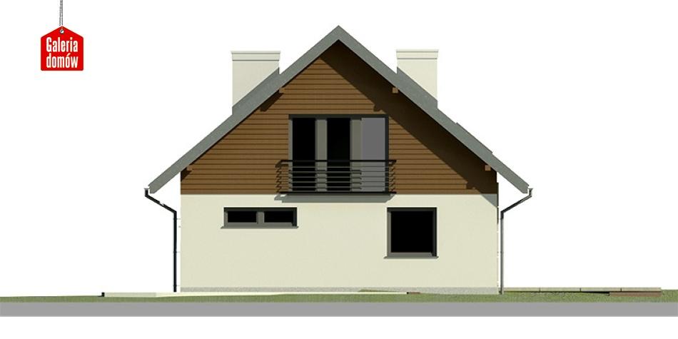 Dom przy Cyprysowej 3 - elewacja tylna