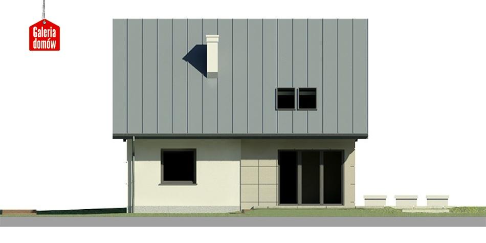 Dom przy Cyprysowej 3 - elewacja lewa