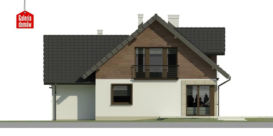 Dom przy Cyprysowej 30 - elewacja tylna
