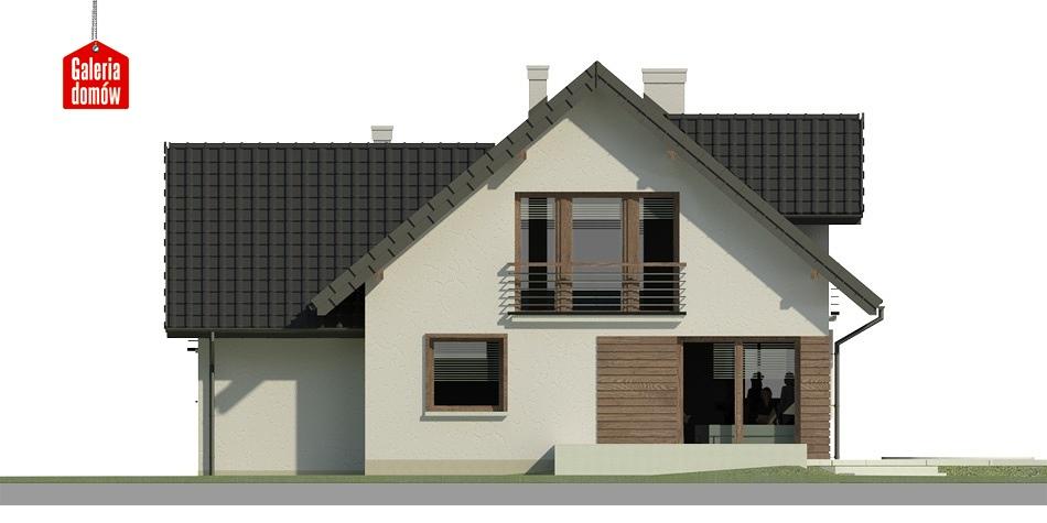 Dom przy Cyprysowej 31 - elewacja tylna