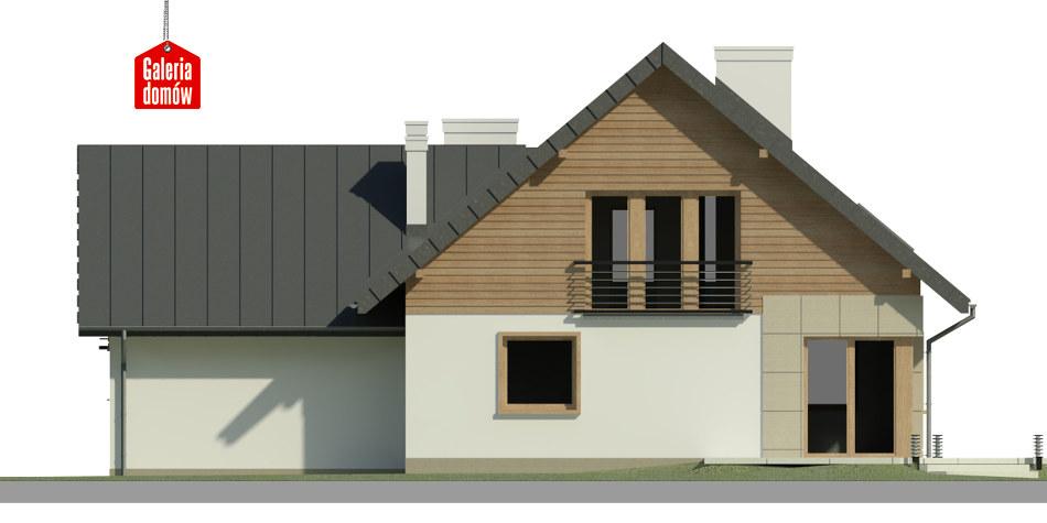 Dom przy Cyprysowej 32 - elewacja tylna